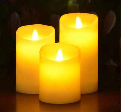scented led flameless candles, decorative flameless candles