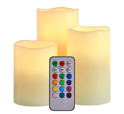 battery operated candles with remote, flameless candles with remote, cheap flameless candles