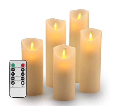 led flameless candles, flameless candles for wedding, battery powered flameless led candle set
